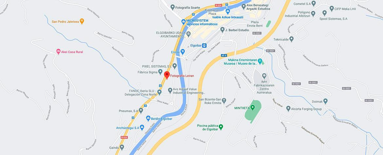 Ubicación de LEIRAN en Google Maps